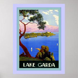 Lake Garda ~ Vintage Italian Travel Poster