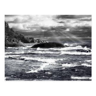 Lake Superior Lightrays Postcard