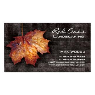 Landscaping Business Card Brick Maple Leaf