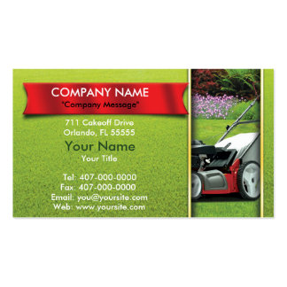 Landscaping Lawn Mower Lawn Care Pack Of Standard Business Cards