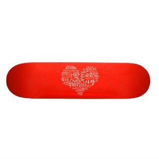 Languages of Love Heart Skate Board Decks