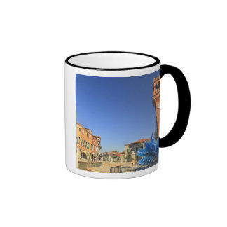 Large Glass Statue and Bell Tower, Italy Ringer Mug