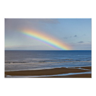 Large rainbow over the Pacific Ocean at Poster