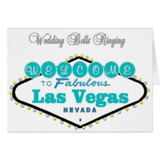 Las Vegas Wedding Bells Ringing Announcement Cards