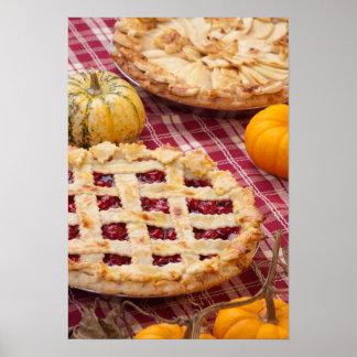 Lattice Cherry Pie And Apple Pie Poster