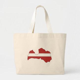 Latvia flag map jumbo tote bag