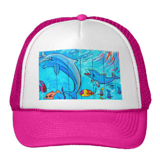 laughing dolphins hat
