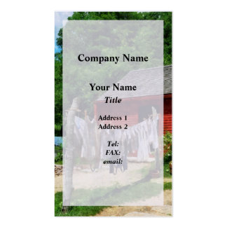 Laundry Hanging on Line Pack Of Standard Business Cards