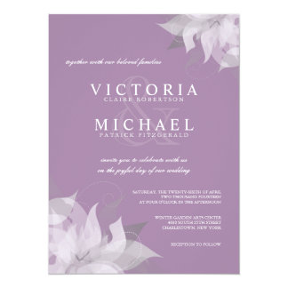Lavender and White Floral Wedding Invitations