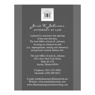 Law Firm Announcement Flyer