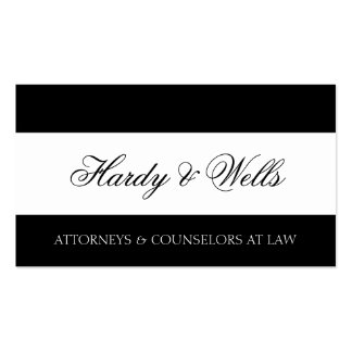 Law Firm B/W - Available Letterhead - Pack Of Standard Business Cards