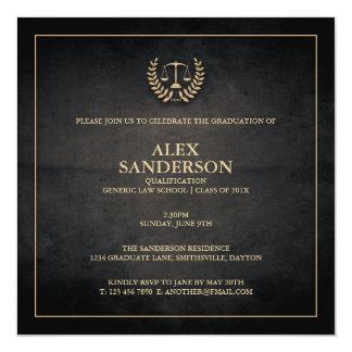 Law School Graduation Announcement | Black