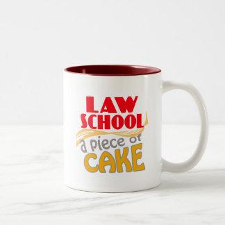Law School - Piece of Cake Two-Tone Mug
