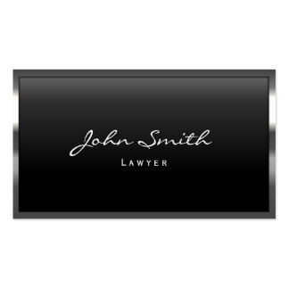 Lawyer Metal Border Professional Modern Pack Of Standard Business Cards