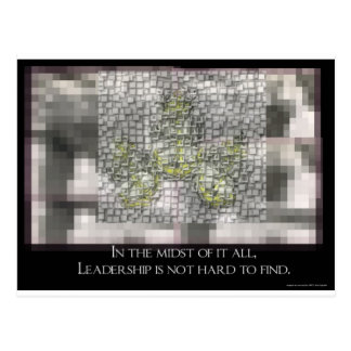 Leadership is not hard to Find Postcard
