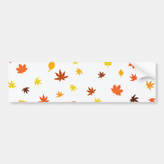 leaf and Maple Bumper Sticker