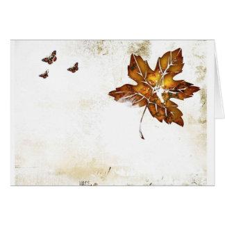 leaf blank note card