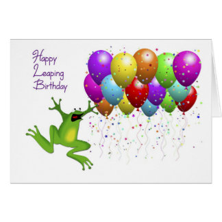 Leap Year Happy Birthday Note Card