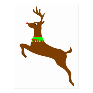 Leaping Rudolph The Red Nose Reindeer Postcard