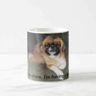 Leave me alone, I'm having a bad day. Basic White Mug