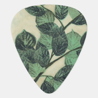Leaves and Branches on Cream Background Guitar Pick