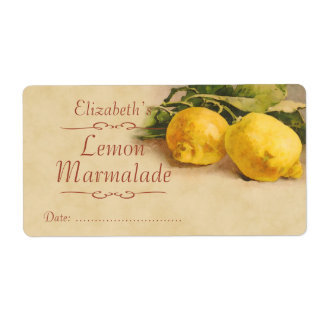 Lemon Canning label Shipping Label