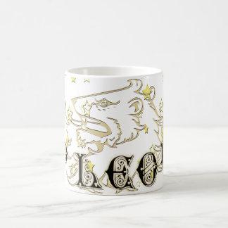 Leo Lion Astrology Sign With Stars Basic White Mug
