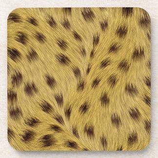 Leopard cork coaster set