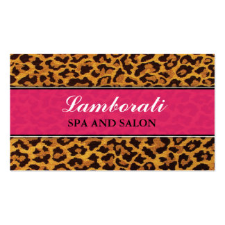 Leopard Print Pink Fashion Designer Elegant Modern Pack Of Standard Business Cards