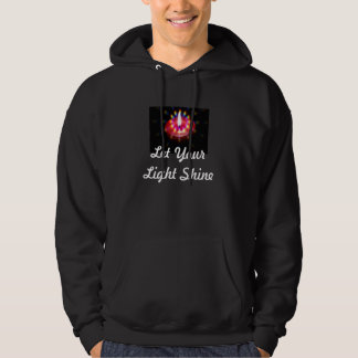 Let Your Light Shine mens hoodie