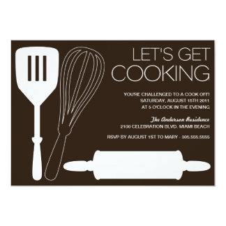 LET'S GET COOKING   COOK OFF PARTY INVITATIONS