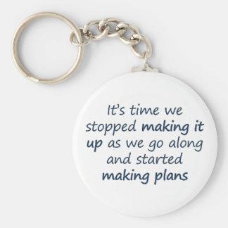 Let's make a plan (sq) basic round button key ring