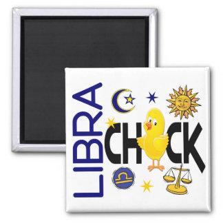 Libra Chick 1 Square Magnet