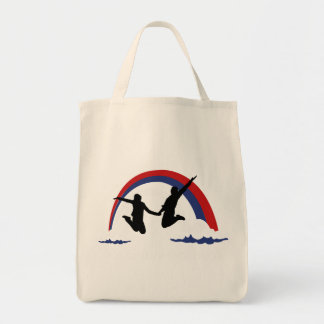 Life Before Facebook Grocery Tote Bag