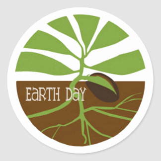 Life Begins Earth Day Stickers