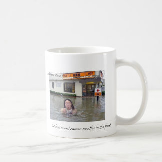 Life isn't about how  to survive the storm but how basic white mug