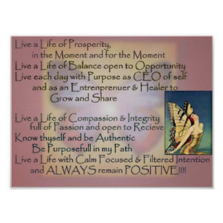 Life of Purpose Mantra Poster