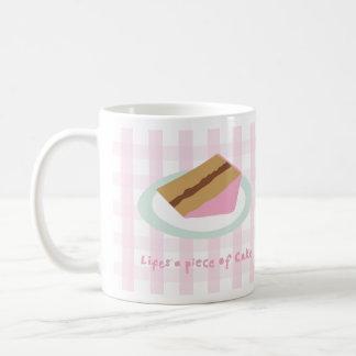 lifes a piece of cake basic white mug