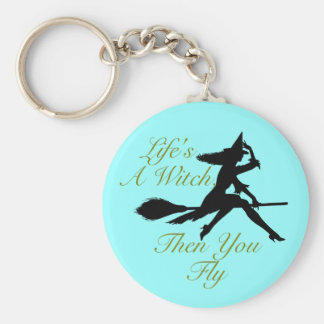Life's  a Witch Basic Round Button Key Ring