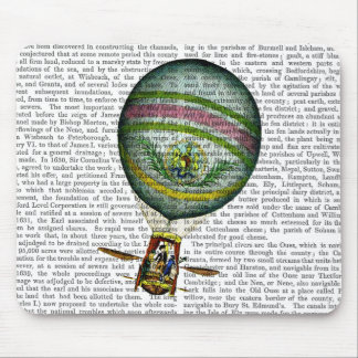 Light Blue Hot Air Balloon Mouse Pad