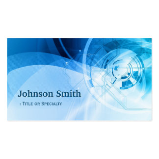 Light Blue Stylish - Modern and Hi-Tech Pack Of Standard Business Cards
