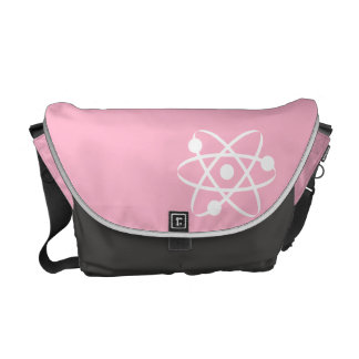 Light Pink Atom Courier Bag