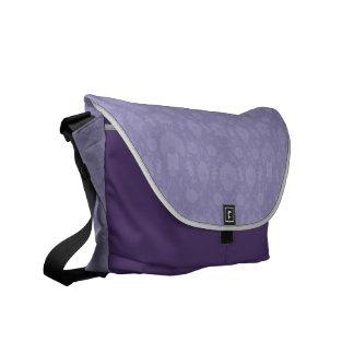 Light Purple Vintage Floral Courier Bag