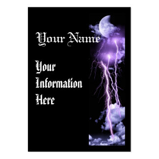 Lightning storm vertical business prolfile card pack of chubby business cards