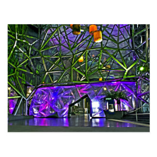 Lights of Federation Square Postcard