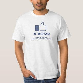 Like A Boss Geek Tshirt Slogan