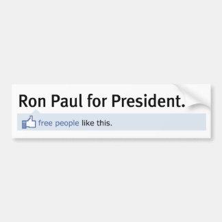 Like Ron Paul Bumper Sticker