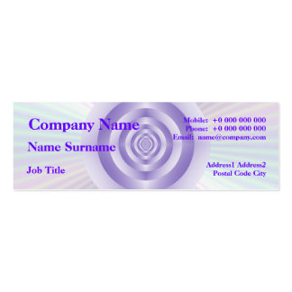 Lilac Rings Skinny Business Card