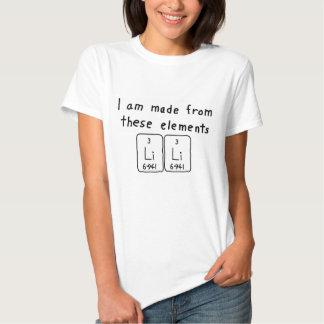 Lili periodic table name shirt