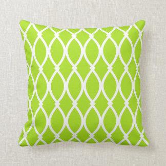 Lime Green Barcelona Print Throw Cushion